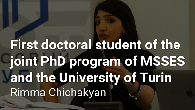 First doctoral student of the joint PhD program